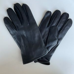 Fownes Black 100% Genuine Leather Gloves Unisex